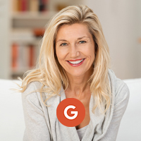 Google logo blonde woman
