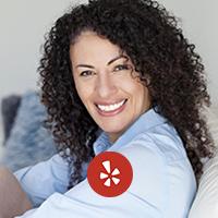 Yelp logo woman