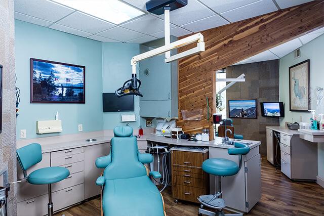 Exam room at Choice Austin Dental